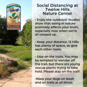 Social Distancing at Twelve Hills Nature Center